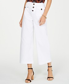I.N.C. Cropped Wide-Leg Pants, Created for Macy's