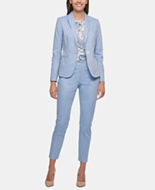 Tommy Hilfiger Elbow-Patch Blazer & Slim-Leg Pants