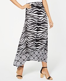 I.N.C. Zebra-Print Gauze Maxi Skirt, Created for Macy's
