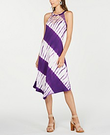 INC Tie-Dyed Crochet Midi Dress, Created for Macy's