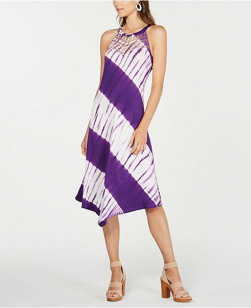 INC International Concepts INC Tie-Dyed Crochet Midi Dress, Created for Macy's