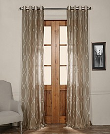 "Grecian Grommet Printed Sheer 50"" x 96"" Curtain Panel"