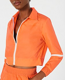 Cropped Parachute Jacket