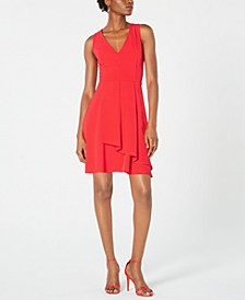 Overlay Fit & Flare Dress