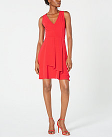 19 Cooper Overlay Fit & Flare Dress