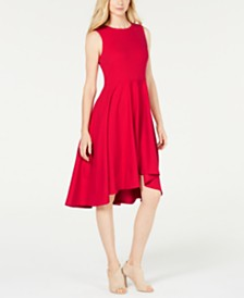 Calvin Klein High-Low Fit & Flare Dress