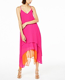 Sleeveless Tiered Handkerchief-Hem Dress, Created for Macy's