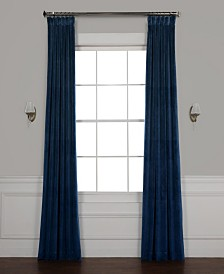 "Exclusive Fabrics & Furnishings Heritage Plush Velvet 50"" x 96"" Curtain Panel"