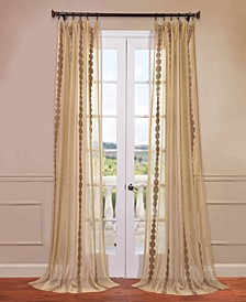 "Cleopatra Embroidered Sheer 50"" x 108"" Curtain Panel"
