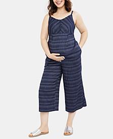 Cropped Wide-Leg Jumpsuit