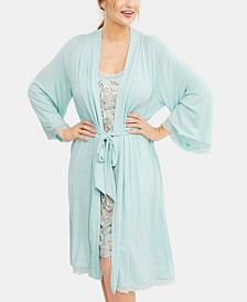A Pea In The Pod Lace-Trim Nursing Nightgown