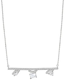 ZAXIE Pave Bar Crystal Necklace