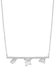 ZAXIE Pave Bar Necklace