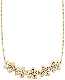 Blooming Bling Gold Flower Statement Necklace