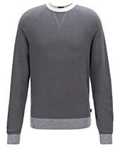 bd89abf1f2 BOSS Men's Javio Knitted Italian Pima Cotton Sweater