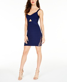GUESS Mirage Twist-Detail Bandage Dress