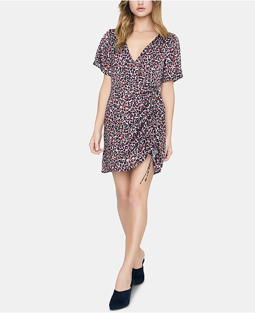Sanctuary Printed Ruched Dress