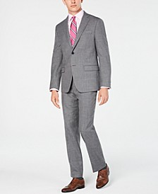 Men's Classic/Regular Fit UltraFlex Stretch Gray Sharkskin Suit Separates