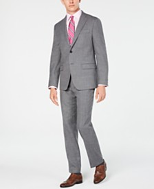 Lauren Ralph Lauren Men's Classic/Regular Fit UltraFlex Stretch Gray Sharkskin Suit Separates