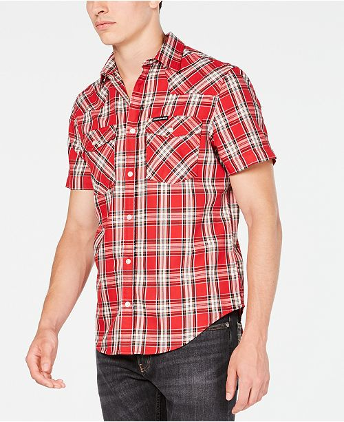 Calvin Klein Jeans Men's Foundation Plaid Twill Shirt