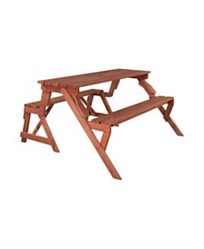 Leisure Season Convertible Picnic Table and Garden Bench