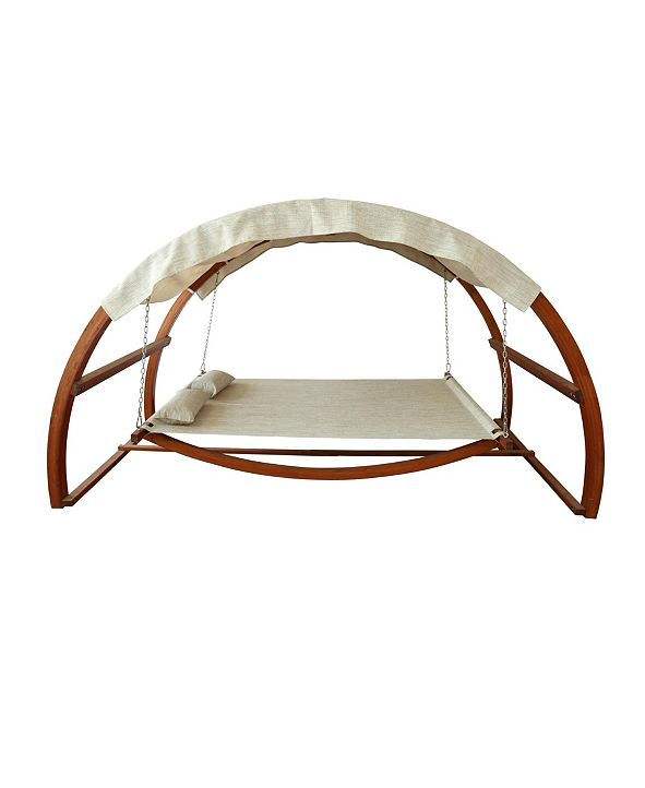 Leisure Season Swing Bed with Canopy