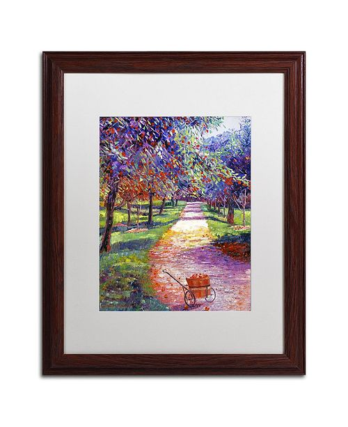 """Trademark Global David Lloyd Glover 'French Apple Orchards' Matted Framed Art - 16"""" x 20"""""""