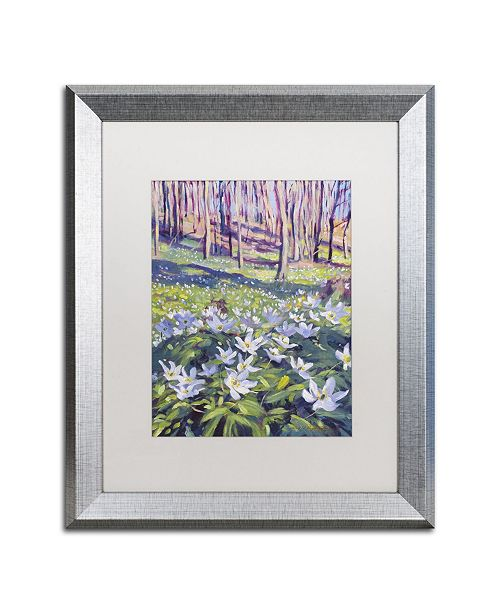 "Trademark Global David Lloyd Glover 'Anemones in the Meadow' Matted Framed Art - 16"" x 20"""