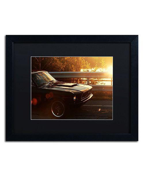"Trademark Global Jason Shaffer '67 Mustang' Matted Framed Art - 20"" x 16"""