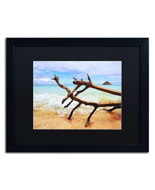 "Trademark Global Jason Shaffer 'Hawaii 2' Matted Framed Art - 20"" x 16"""