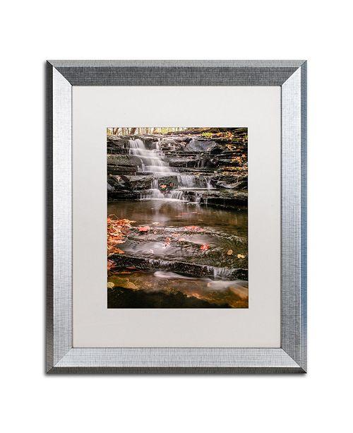 """Trademark Global Jason Shaffer 'Hidden Falls 2' Matted Framed Art - 16"""" x 20"""""""