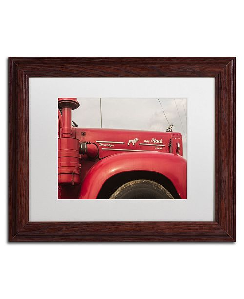 "Trademark Global Jason Shaffer 'Mack Truck' Matted Framed Art - 14"" x 11"""