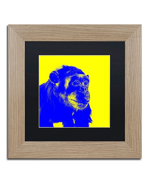 """Trademark Global Claire Doherty 'Chimp No 2' Matted Framed Art - 11"""" x 11"""""""