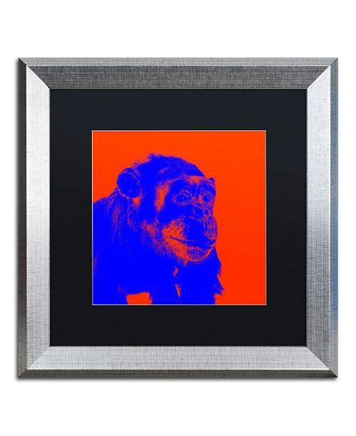 """Trademark Global Claire Doherty 'Chimp No 6' Matted Framed Art - 16"""" x 16"""""""