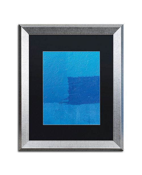 "Trademark Global Claire Doherty 'Abstract Blue' Matted Framed Art - 16"" x 20"""