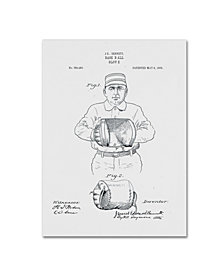 "Claire Doherty 'Baseball Glove Patent 1905 White' Canvas Art - 35"" x 47"""