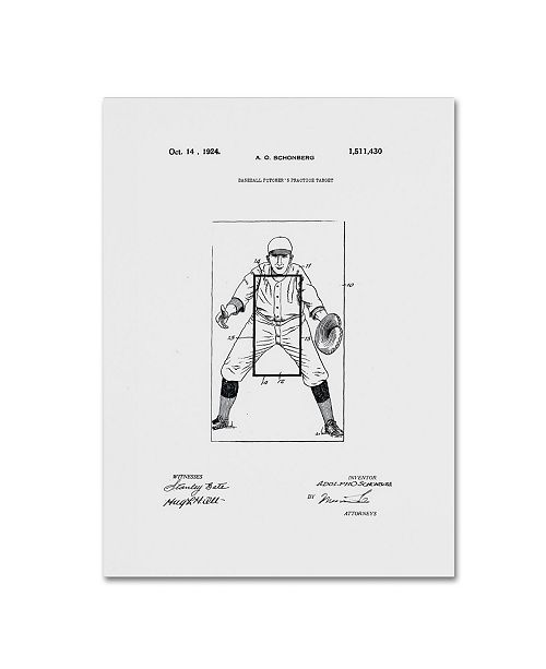 """Trademark Global Claire Doherty 'Practice Target Patent 1924 White' Canvas Art - 35"""" x 47"""""""