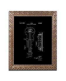 """Claire Doherty 'Gibson Electric Guitar Patent Black' Ornate Framed Art - 16"""" x 20"""""""