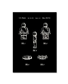 """Claire Doherty 'Lego Man Patent 1979 Page 1 Black' Canvas Art - 35"""" x 47"""""""