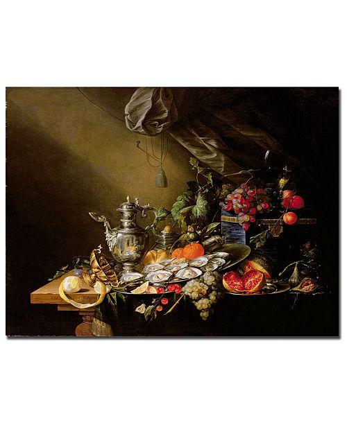 """Trademark Global Cornelis De Heem 'Banquet Still Life' Canvas Art - 32"""" x 24"""""""