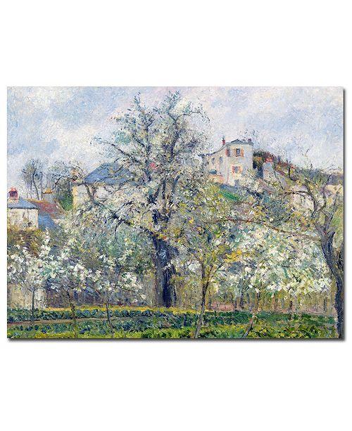 "Trademark Global Camille Pissarro 'The Garden at Pontoise, 1877' Canvas Art - 24"" x 18"""