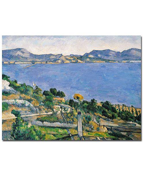 "Trademark Global Paul Cezanne 'The Little Bridge, 1879' Canvas Art - 47"" x 35"""