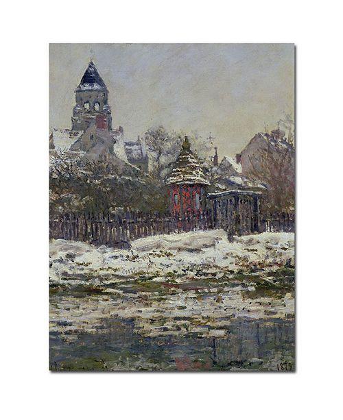 "Trademark Global Claude Monet 'The Church at Vetheuil 1879' Canvas Art - 14"" x 19"""