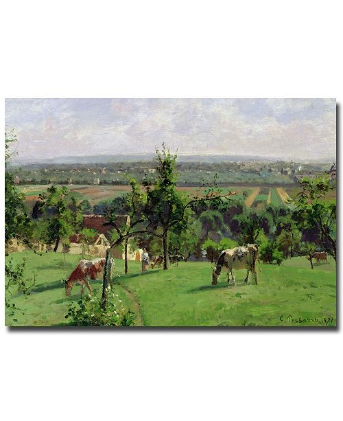"Trademark Global Camille Pissarro 'Hillside of Vesinet, 1871' Canvas Art - 24"" x 16"""