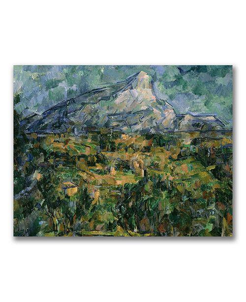 "Trademark Global Paul Cezanne 'Mont Sainte-Victoire' Canvas Art - 24"" x 18"""