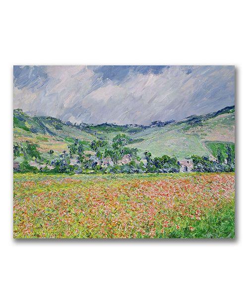 "Trademark Global Claude Monet 'THe Poppy Field near Giverny' Canvas Art - 32"" x 26"""