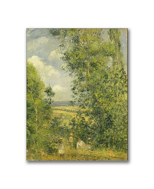 """Trademark Global Camille Pissarro 'A Rest in the Meadow' Canvas Art - 47"""" x 35"""""""