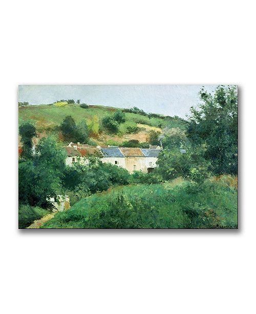 "Trademark Global Camille Pissarro 'The Path in the Village' Canvas Art - 32"" x 22"""