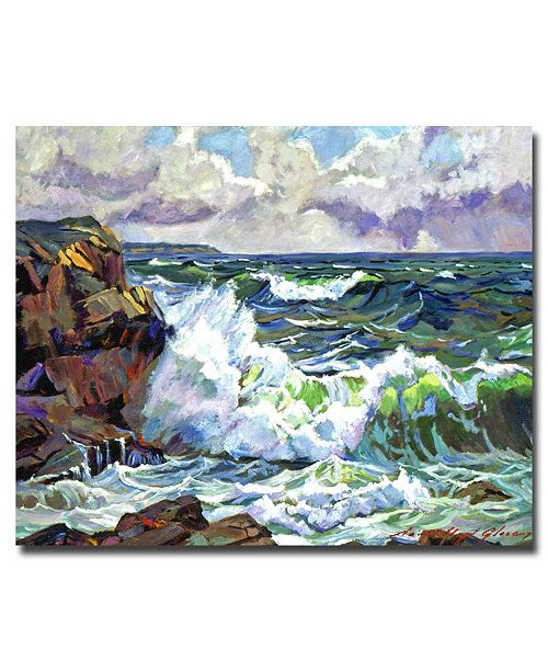 "Trademark Global David Lloyd Glover 'Malibu Coastline' Canvas Art - 47"" x 35"""