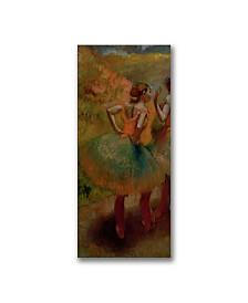 """Edgar Degas 'Dancers wearing Green Skirts' Canvas Art - 32"""" x 18"""""""
